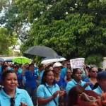 Apertura año escolar con protestas en varias escuelas interior del país